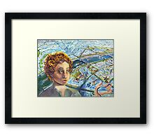 Citizen Jane, the Eiffel and the Hummingbird Framed Print
