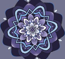 columbine blue mandala by resonanteye