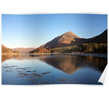Evening reflection on Loch Leven. Poster