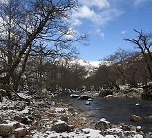 River Nevis in Winter. by John Cameron