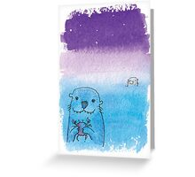 Two Otters Greeting Card