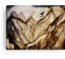 the city below Canvas Print