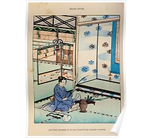 The flowers of Japan and the art of floral arrangement Josiah Conder 1892 0187 Japanese Interior with Arrangement of Summer Flowers Poster