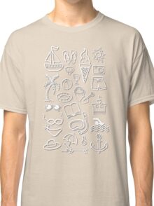 Holiday beach icons Classic T-Shirt