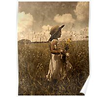 Picking Wild Flowers Poster