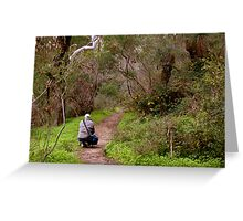 Another photographer on location - Morialta Conservation Park, South Australia Greeting Card