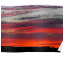 Sunset In Moses Lake Washington Poster