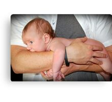 In daddy's hands.. Canvas Print