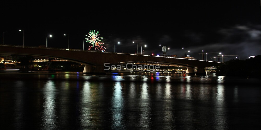 Brisbane City and River by Night #2 by Sea-Change
