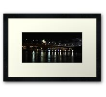 Brisbane City and River by Night #2 Framed Print