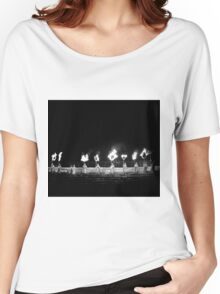 I find a map and draw a straight line  Women's Relaxed Fit T-Shirt
