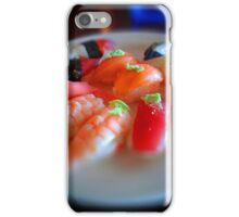 Sushi Delights on a White Plate with Wasabi iPhone Case/Skin