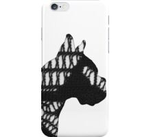 Lace Bulldog Design Black and White Dog Pattern 1 iPhone Case/Skin