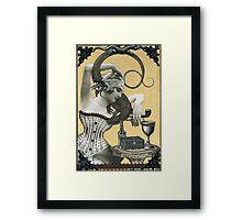 Lydia & her Lizard Framed Print