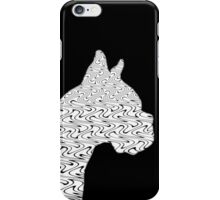 Black and White Flames Pattern Tribal Bulldog Design 1 iPhone Case/Skin