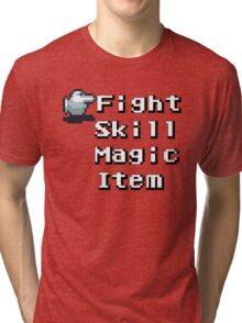 Turn-Based Battle Menu Tri-blend T-Shirt