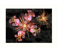 Gnarly Fireworks Art Print