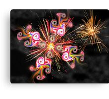 Gnarly Fireworks Canvas Print