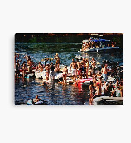 American River Wild Life Canvas Print
