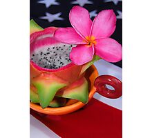 Dragon Fruit Dessert Photographic Print