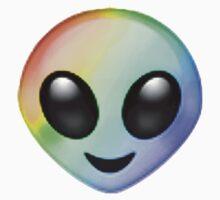 Rainbow Alien Emoji by FrootShop