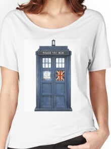 Police Box Union Jack Women's Relaxed Fit T-Shirt