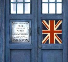 Police Box Union Jack Sticker