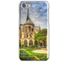 Notre Dame with Garden & Fountain iPhone Case/Skin