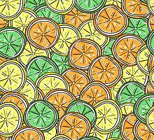 Lemon, lime and orange pattern by miroshina