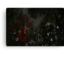 Ochre handprint Canvas Print