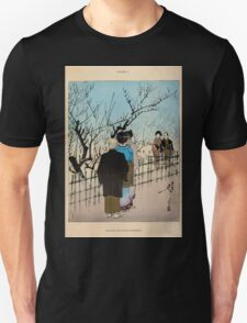 The flowers of Japan and the art of floral arrangement Josiah Conder 1892 0029 Viewing the Plum Blossoms Unisex T-Shirt