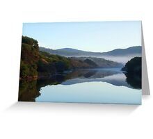 Cold and foggy morning  Greeting Card