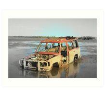 Off the beaten track, Port Hedland, WA Art Print