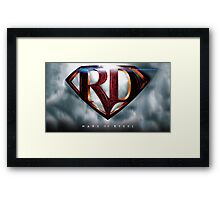 Mare of Steel Logo Framed Print
