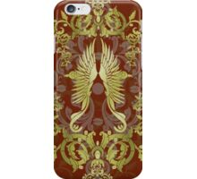 Damask Birds with Red iPhone Case/Skin