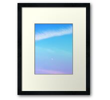 floating in floss Framed Print