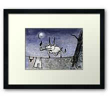 Night Guest Framed Print