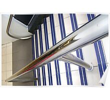 Abstract, stairs & rail Poster