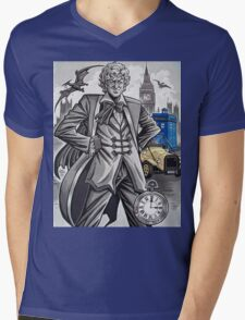 The Third Doctor Mens V-Neck T-Shirt