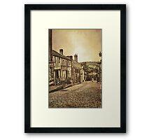 High Street Framed Print