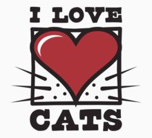 I LOVE CATS logo Kids Clothes