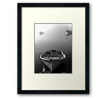 Who wants to row? Framed Print