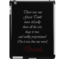 One Word Dracula iPad Case/Skin