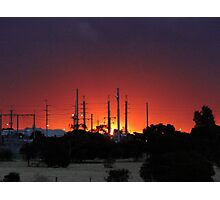 Sunset in the suburb Photographic Print