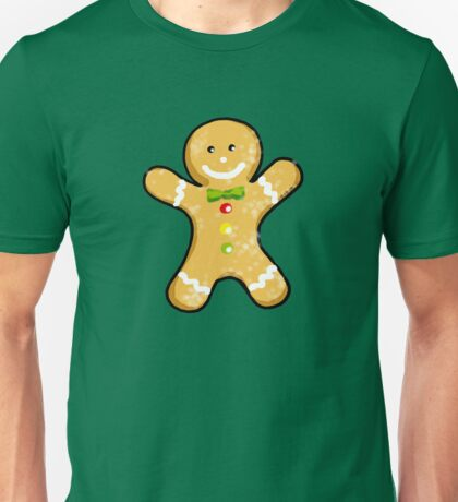 Cute Christmas gingerbread man cookie Unisex T-Shirt
