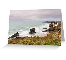 Bedruthan Steps  in Cornwall Greeting Card