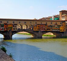 Arno River Quay IV (The Ponte Vecchio) by Denis Molodkin