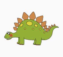 Funny cartoon stegosaurus dinosaur Kids Clothes