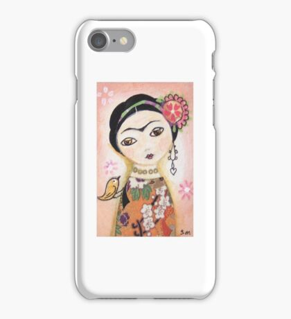 Frida Kahlo in peach. iPhone Case/Skin