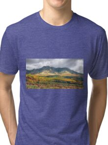 The mystical journey to the magical mountains in autumn Indian summer Tri-blend T-Shirt